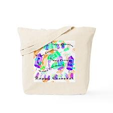 Dreidels Happy Chanukah Tote Bag
