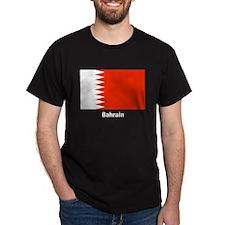 Bahrain Flag (Front) Black T-Shirt