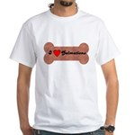 LOVE DALMATIONS (ON BONE) White T-Shirt