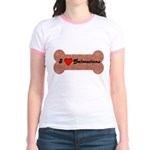LOVE DALMATIONS (ON BONE) Jr. Ringer T-Shirt