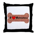 LOVE DALMATIONS (ON BONE) Throw Pillow
