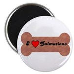 LOVE DALMATIONS (ON BONE) Magnet