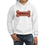 LOVE DALMATIONS (ON BONE) Hooded Sweatshirt