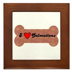 LOVE DALMATIONS (ON BONE) Framed Tile