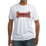LOVE DALMATIONS (ON BONE) Fitted T-Shirt