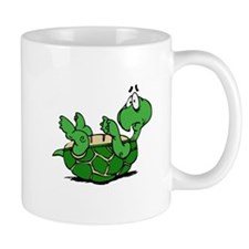 Turtle on His Back Small Mug