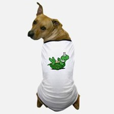 Turtle on His Back Dog T-Shirt