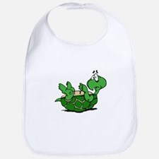 Turtle on His Back Bib