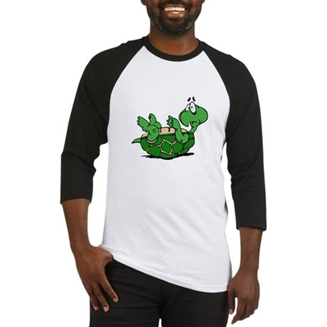 Turtle on His Back Baseball Jersey