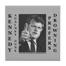Unique Kennedy kopechne Tile Coaster