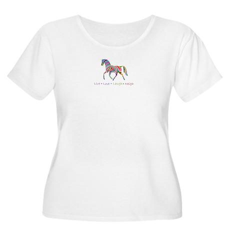 Rainbow pony Women's Plus Size Scoop Neck T-Shirt