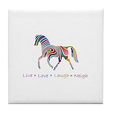 Rainbow pony Tile Coaster