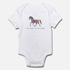Rainbow pony Infant Bodysuit