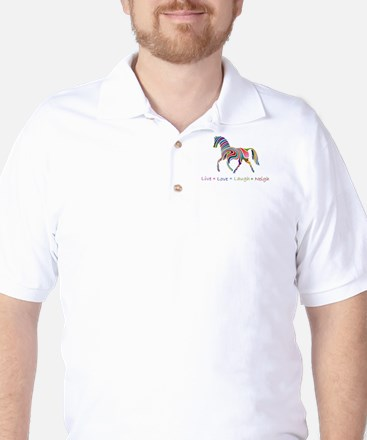 Rainbow pony Golf Shirt