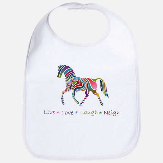 Rainbow pony Bib