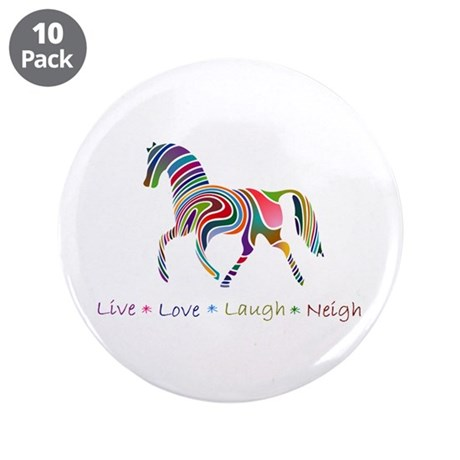 """Rainbow pony 3.5"""" Button (10 pack)"""