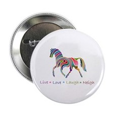 "Rainbow pony 2.25"" Button"