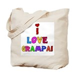 I Love Grampa Tote Bag