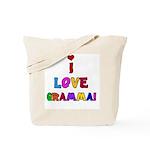 I Love Gramma Tote Bag
