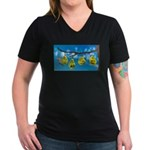 Comfort Zone Women's V-Neck Dark T-Shirt
