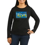 Comfort Zone Women's Long Sleeve Dark T-Shirt
