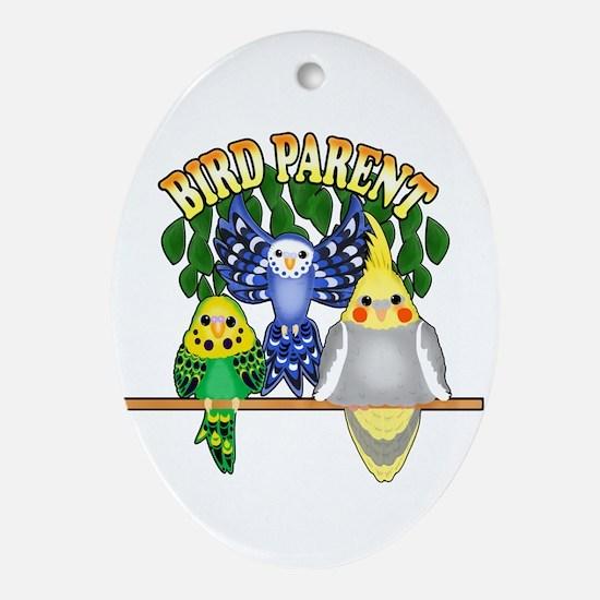 Bird Parent Oval Ornament