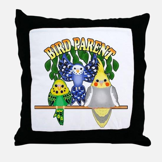 Bird Parent Throw Pillow