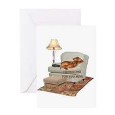 TV Doxie Greeting Card
