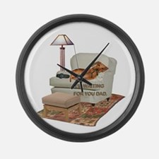 TV Doxie Dad Large Wall Clock
