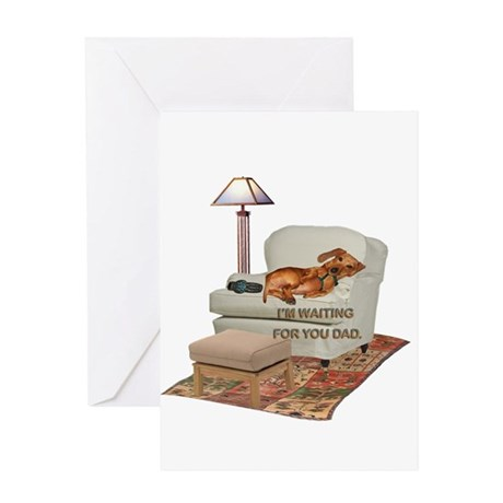 TV Doxie Dad Greeting Card