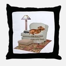 TV Doxie Dad Throw Pillow