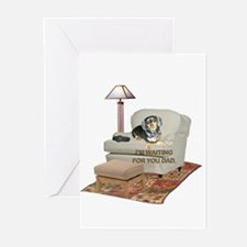 TV Dad Doxie Greeting Cards (Pk of 20)