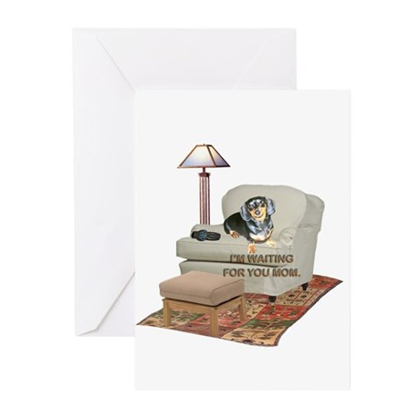 TV Mom Doxie Greeting Cards (Pk of 20)