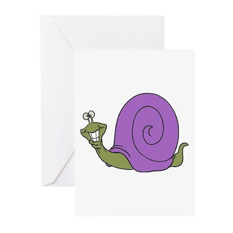 Happy Goofy Snail Greeting Cards (Pk of 10)