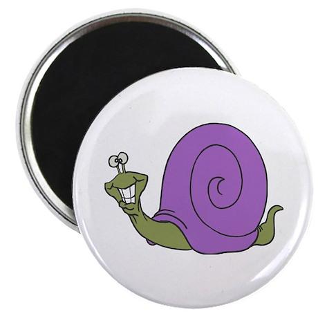 "Happy Goofy Snail 2.25"" Magnet (100 pack)"