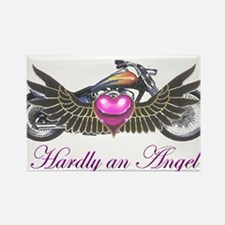 Hardly an angel Rectangle Magnet
