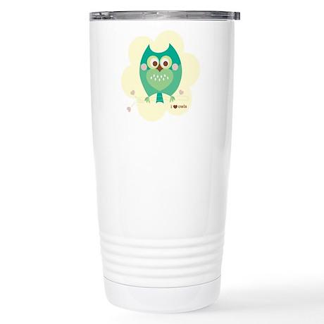 I Love Owls Stainless Steel Travel Mug