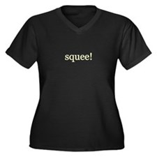 Cute Squee Women's Plus Size V-Neck Dark T-Shirt