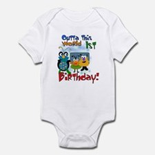 Space Critters 1st Birthday Infant Creeper