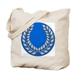 Blue with silver laurel Medallion or Tote Bag