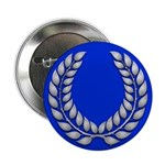 Blue with silver laurel Medallion or Button