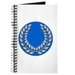 Blue with silver laurel Medallion or Journal