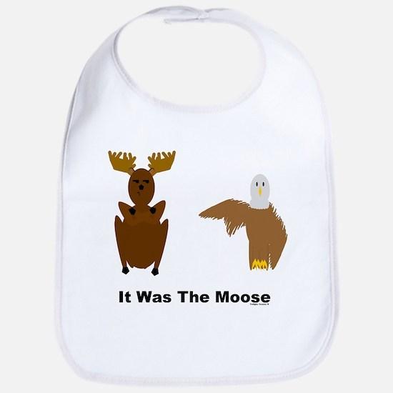 Eagle Blames Moose Bib