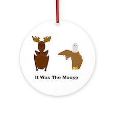 Eagle Blames Moose Ornament (Round)