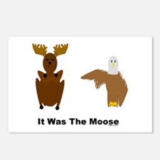 Eagle Blames Moose Postcards (Package of 8)