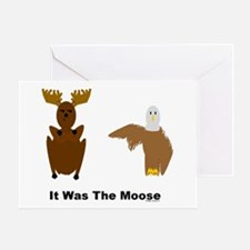 Eagle Blames Moose Greeting Card