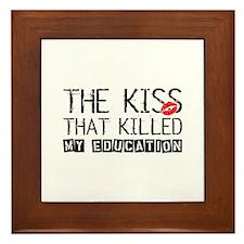 The Kiss that Killed Framed Tile