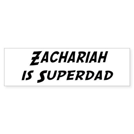 Zachariah is Superdad Bumper Sticker