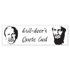 Evildoers Quote God (God lips)