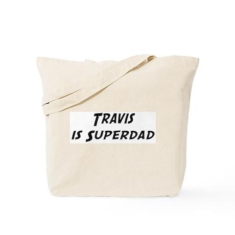 Travis is Superdad Tote Bag